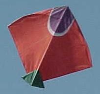 red paper fighter kite