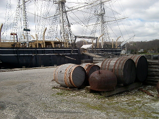 Whale barques used casts filled with water for ballast