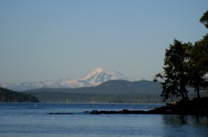 View of Mt. Baker from Friday Harbor