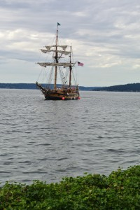 """Lady Washington"" on Lake Washington."