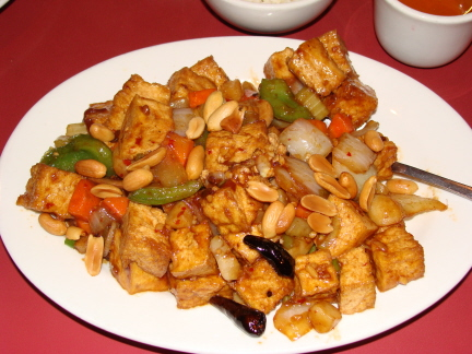 Kung pao tofu is a special dish served only at the Edmond Dot Wo