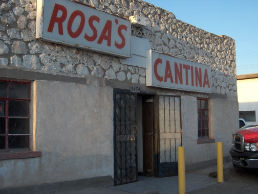 Rosa's Cantina was made famous by a Marty Robbins song