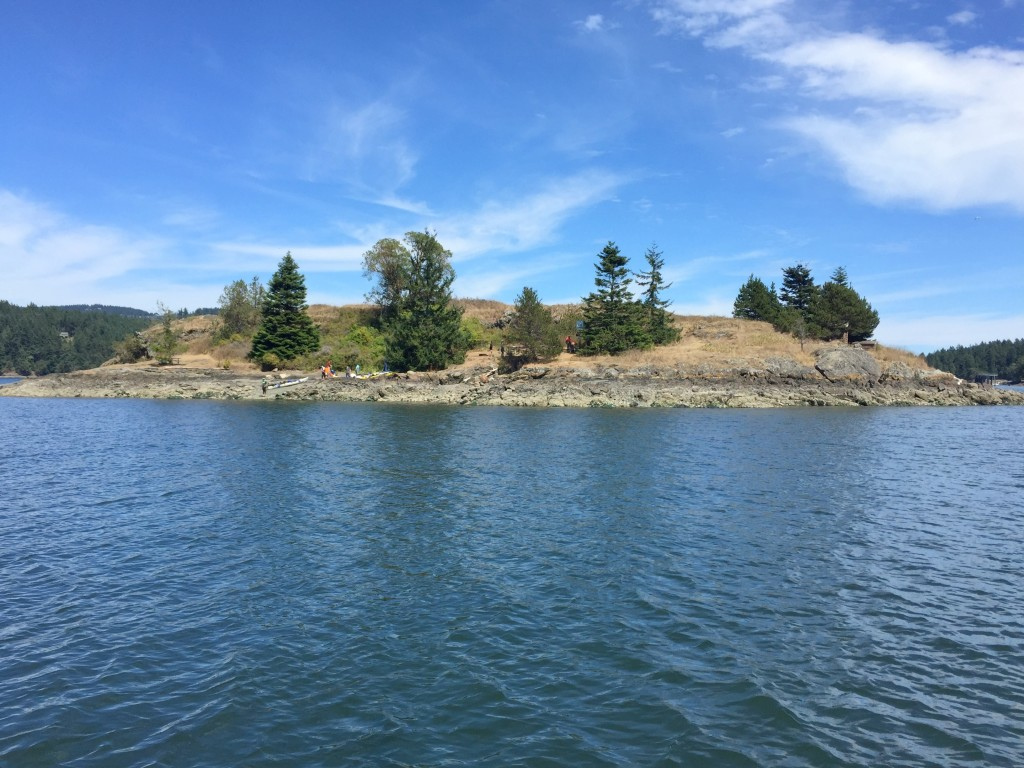 Blind Bay from our buoy.