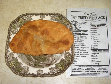 Fried pie with the complete menu of fruit, meat, and vegetable pies